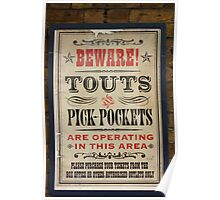 Touts and Pick-Pockets Poster