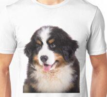 Portrait of Bernese mountain dog puppy Unisex T-Shirt