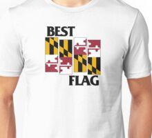 Best Flag, Black on White Unisex T-Shirt