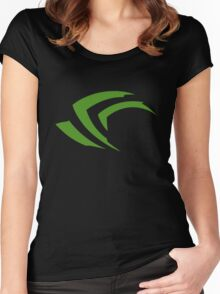 Nvidia Geeks Women's Fitted Scoop T-Shirt