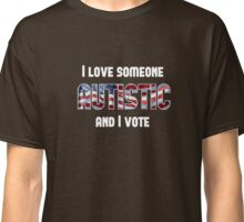 Love Autistic and Vote - USA - dark background Classic T-Shirt