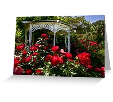 Roses and gazebo Greeting Card