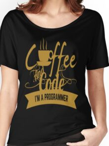 PROGRAMMER : COFFEE AND CODE. I AM A PROGRAMMER T-SHIRT Women's Relaxed Fit T-Shirt