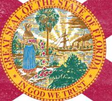 Florida State Flag Distressed Vintage Sticker