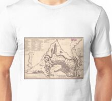 Vintage Map of Genoa Italy (1823) Unisex T-Shirt