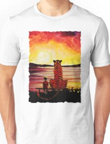 Calvin and Hobbes Art Painting Unisex T-Shirt