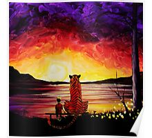 Calvin and Hobbes Art Painting Poster
