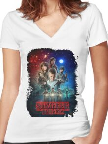 Stranger Things - Original Women's Fitted V-Neck T-Shirt