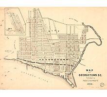 Vintage Map of Georgetown (Washington D.C.) 1876 Photographic Print
