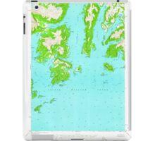 USGS TOPO Map Alaska AK Seward D-2 358986 1951 63360 iPad Case/Skin