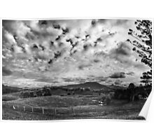 Mt Warning stormclouds Poster