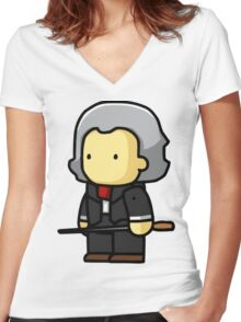 Beethoven musician  Women's Fitted V-Neck T-Shirt