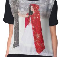 Red hood in winter  Chiffon Top