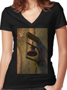 For Whom The Bell Tolls Women's Fitted V-Neck T-Shirt