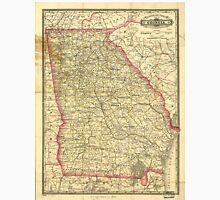 Vintage Map of Georgia (1883) Unisex T-Shirt