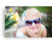 Stunningly beautiful young blond woman Canvas Print