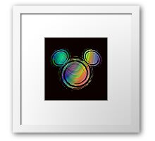 colorful mickey Framed Print