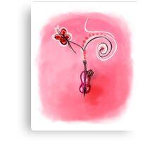 Sweet sound violin Canvas Print