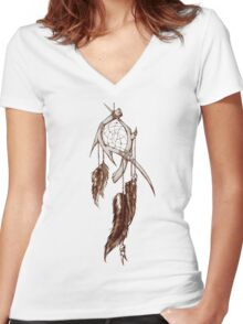 Antler Series 0008 - MalicemalignanT Clothing Women's Fitted V-Neck T-Shirt