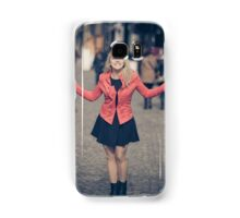 Young business girl Samsung Galaxy Case/Skin