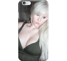 fashion blonde girl with big breasts iPhone Case/Skin