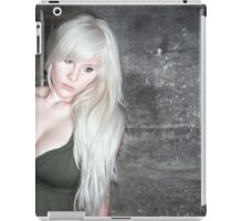 fashion blonde girl with big breasts iPad Case/Skin