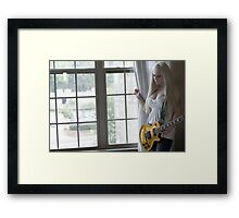 Woman By Window in See-Through Dress Framed Print