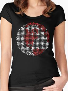 Poket Monsters Globe Women's Fitted Scoop T-Shirt