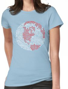 Poket Monsters Globe Womens Fitted T-Shirt