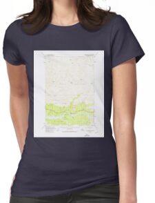 USGS TOPO Map Alaska AK Anchorage D-3 354036 1948 63360 Womens Fitted T-Shirt