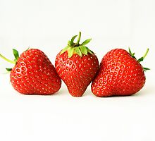 Three Strawberries by Alan Harman
