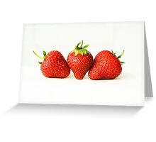 Three Strawberries Greeting Card
