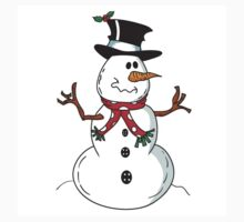 Cute Snowman One Piece - Short Sleeve