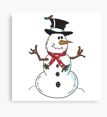 Cute Snowman Canvas Print