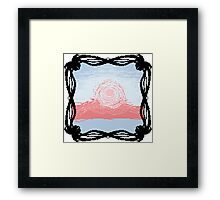 Pixel Sky- Morning Framed Print
