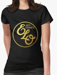Jeff Lynne's Ello GOLD  Womens Fitted T-Shirt
