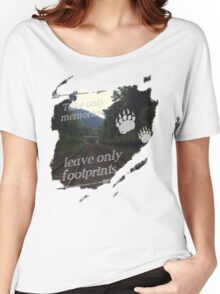 Take Only Memories Leave Only Footprints Women's Relaxed Fit T-Shirt