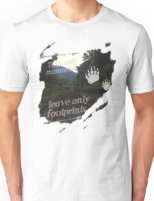 Take Only Memories Leave Only Footprints Unisex T-Shirt