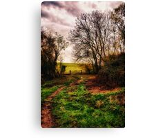Muddy Country Path HDR Canvas Print