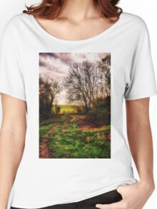 Muddy Country Path HDR Women's Relaxed Fit T-Shirt