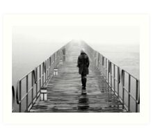 Lonely towards the unknown Art Print
