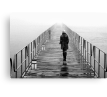 Lonely towards the unknown Canvas Print