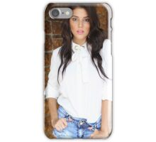 beautiful young woman in a white dress  iPhone Case/Skin
