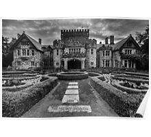 Hatley Castle Black And White Vintage Photo Poster