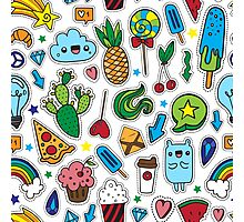 Fun patches Photographic Print