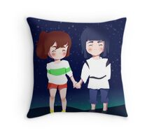 Spirited Away- Chihiro and Haku Throw Pillow