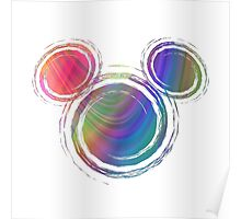 colorful  mickey Poster