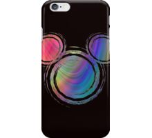 colorful abstract mickey's head design iPhone Case/Skin