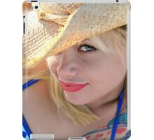 Young attractive cowgirl iPad Case/Skin