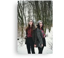 two winter girls Canvas Print